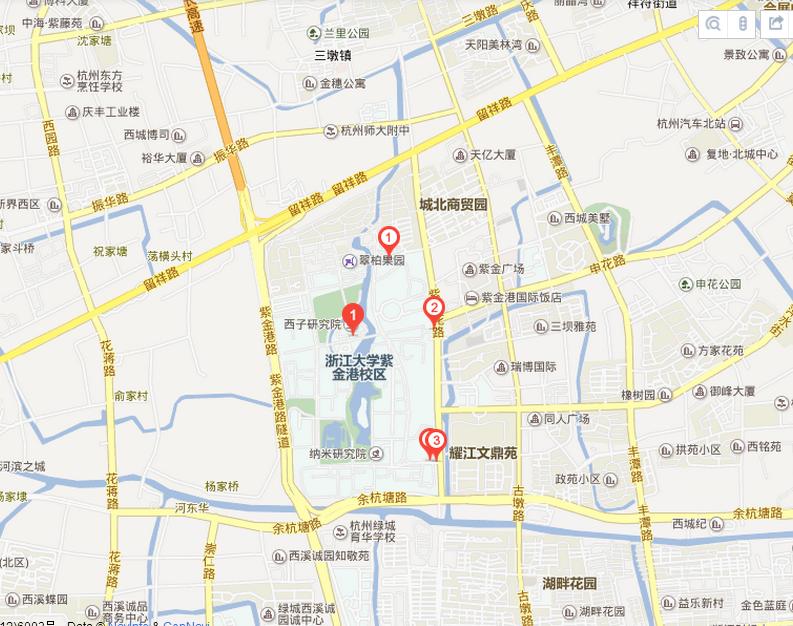 浙江大学地图